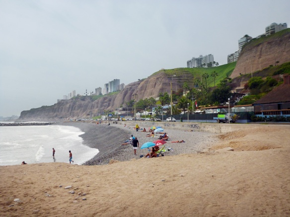 "Not the most beautiful beach I've seen, but it's fascinating how the city is builded there above these ""mountains"".."