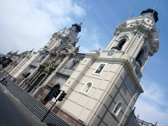 The cathedral in Lima