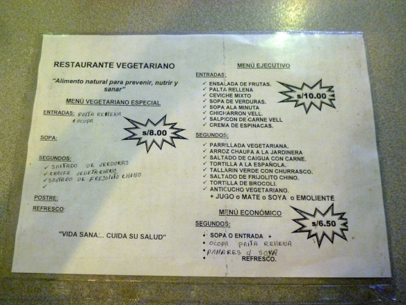 The veggie menu! So many thing's I've never heard of..