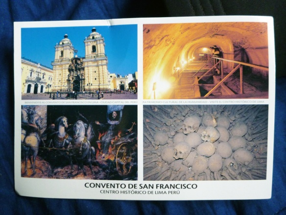 The postcard I bought, hehe. At the right you have the catacombs!