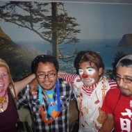 Some couchsurfing people and a clown :)
