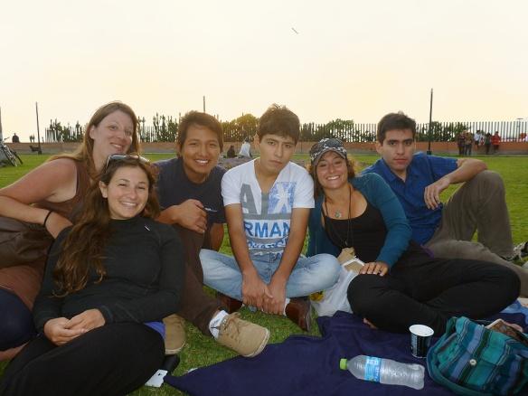 Couchsurfing picknick in Parque de los faros