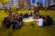 Coucsurfing picknick in Parque del faro