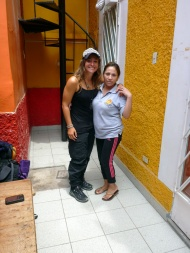 Con Marisol, our hostal-mother :)