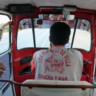 Tuk tuk! Hehe. So cute. It costs 1,5 soles to get to the closest town.