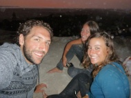 Francesco, me and Amy during sunset