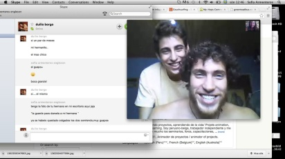 Skyping with Duilio and his brother.. So cute.. :)