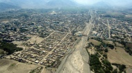 The city of Nazca from the airplane