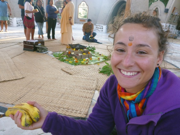 Me in the temple, after both music therapy and this ceremony.. that's why I have 2 dots :)