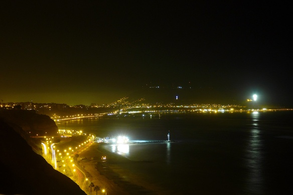 Miraflores at night