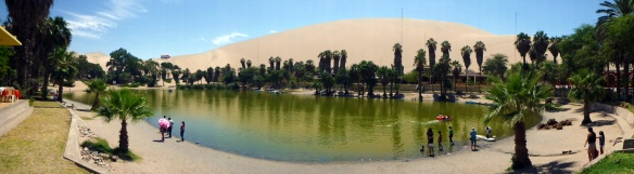 Panorama over Huacachina... and oasis in the desert. Beautiful!