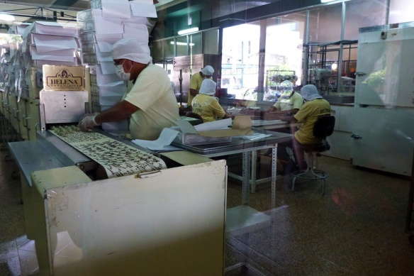 Visiting a chocolate fabric, tasted some really taste bombons... mmmm yummy!