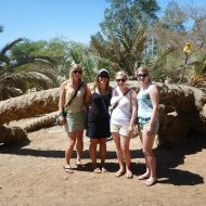 The last group of couchsurfers, Jill, Me, Katharina and Lena