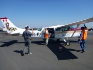 The airplane who took us up to see the Nazca lines