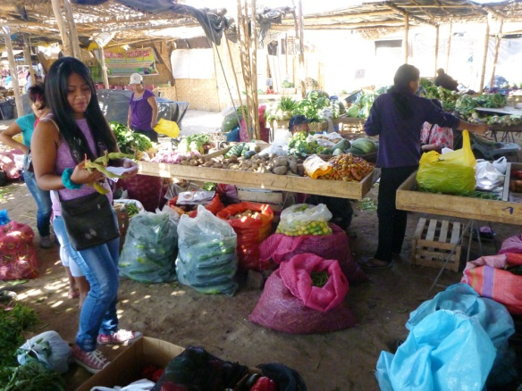 In the market with Atenas, buying fruits and vegetables. :)