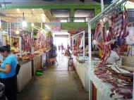 In the market........ meat... uhuh...