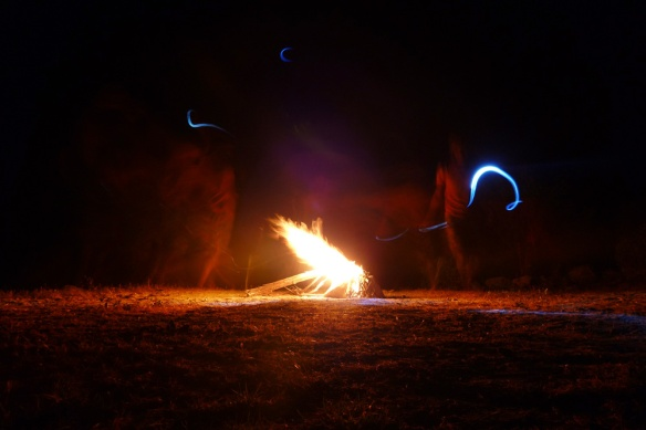 Dancing around the fire :)