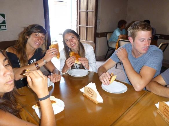 Having some nice empanadillas and salteños :)