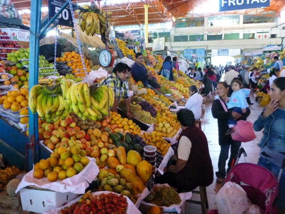Inside San Camilo market... I love that they have so much fruit and vegetables!!! THIS IS PARADISE!