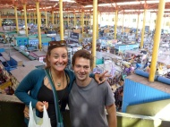 Me and Alberto from Spain with the San Camilo market behind