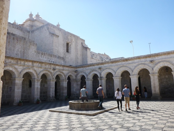 One of the peaceful plazas in Arequipa