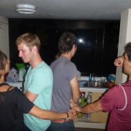 I could write that we are dancing... but we were actually playing games.. haha