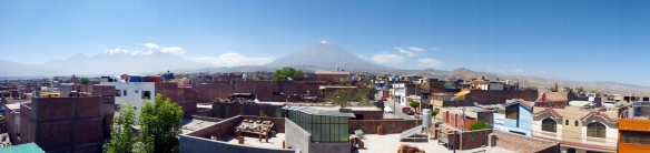 Panorama over Arequipa from Kevins roof