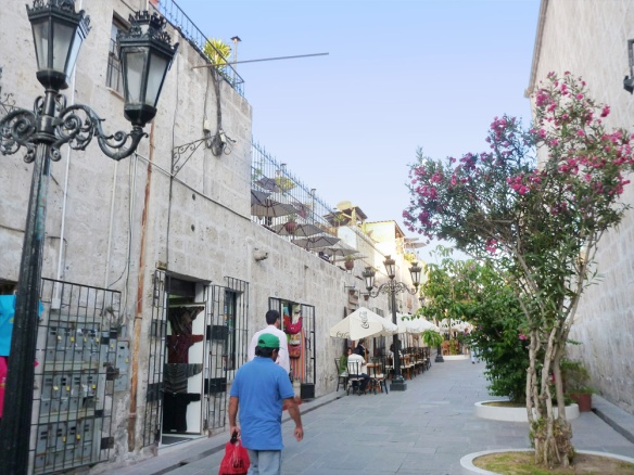 A lovely little street with restaurants. Quite touristic but beautiful.