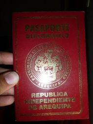 The arequipeñan passport.... (it's not real though, haha)