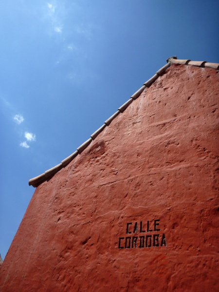Calle Cordoba! :) Hehe. All the streets are named after spanish cities..