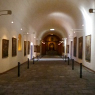 Panorama over the big art gallery in the monastery..