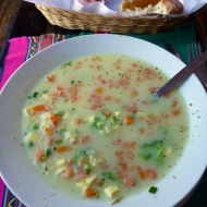 The best vegetarian soup I've ever had... Quinoa... loved it!