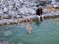 Enjoying the really hot water... :)