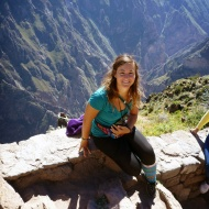 Me with a condor behind sitting on the rock ;)