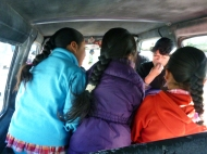 On my way to Chivay, had this three lovely girls in front of me. So sweet.