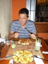 dinner out at kevins favorite restaurant :)