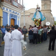 the 1st of may they have this' procession in the center of the town