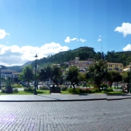 Panorama over the main square in Cuzco