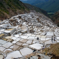 Salineras - lot's of salt mines - used since the inkas!