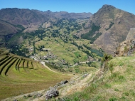 View from the temples in Pisac