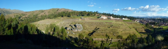 Chinchero, the only inca site with regular houses above, because the Spanish destroyed the old ruins and built new houses above...