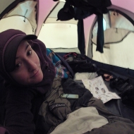 Chilling in my tent! :)