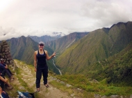 A break in a beautiful place, the urubamba valley and river behind me..