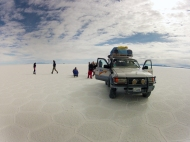 In the middle of the salar