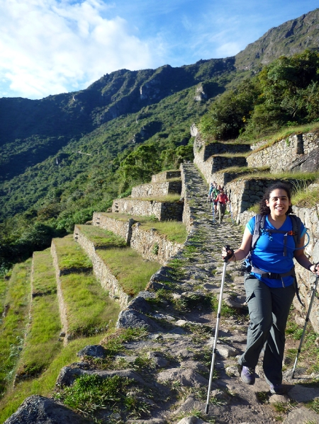 On the inka trail - reaching Machu Picchu in a couple of minutes!