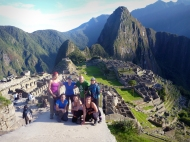 Group picture in front of Machu Picchu... not a great picture I know.. haha