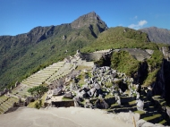 Machu Picchu, they say it was never finished, you see all the rocks to the right that never was used