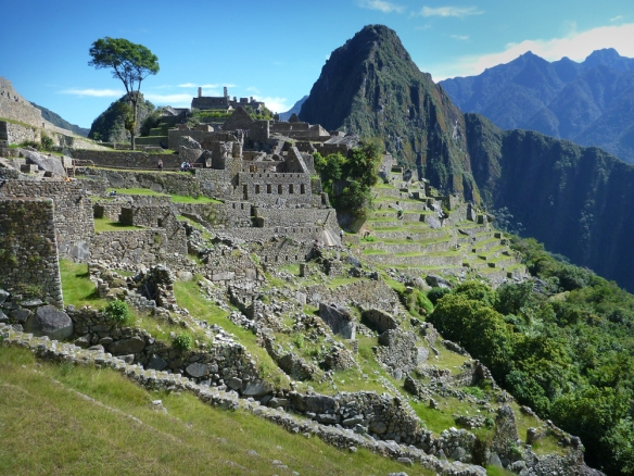 The residential part of Macchu Picchu