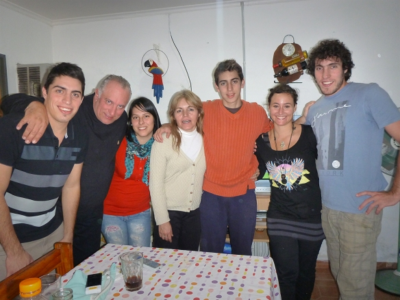 The borgo family with girlfriends :) Luciano, Jorge, Dana, Claudia, Lautaro, Me and Duilio.