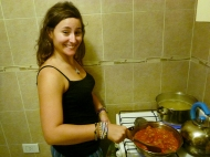 Cooking dinner!